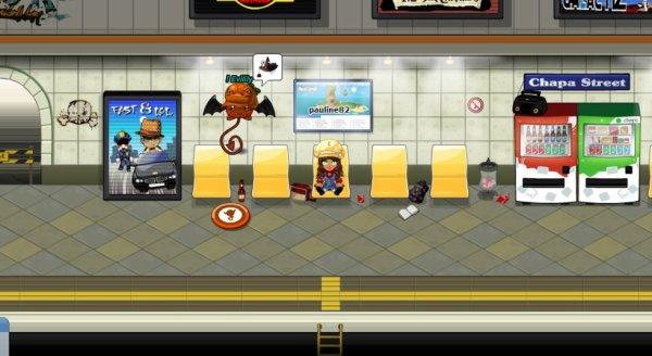 Pauline dans le métro