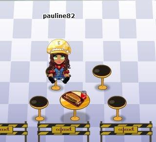 Pauline au Fast Food