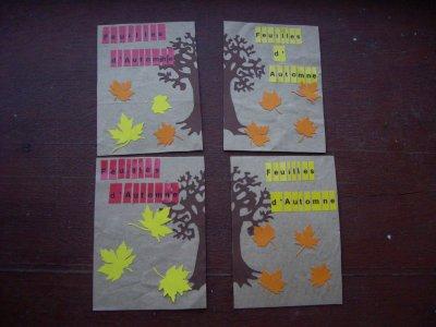 ATC feuilles d'automne (sur crafty)