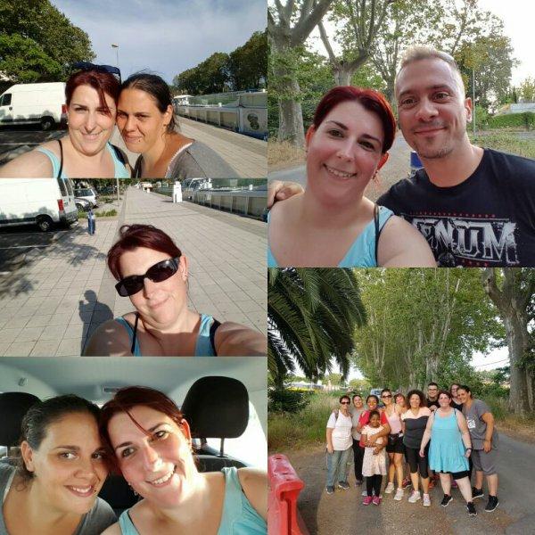 Reprise du sport!! Avec Audrey et mon coach!!! Plus petite photo de groupe!!!