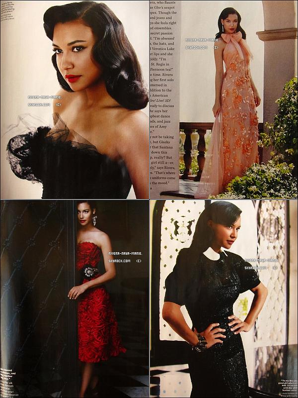 *Découvrez un nouveau photoshoot de Naya pour le magazine « In Style » du mois d'Août . *+ Naya est nominée dans deux cathégories pour les prochains ' ALMA Awards ' cérémonie qui récompense tout les latinos de la Télévision , du cinéma et de la musique . Elle est nominée dans la cathégorie meilleure artiste musicale féminine  aux côtés de Selena gomez , Shakira , Christina Aguilera et Jennifer Lopez . Elle est aussi nominée dans la cathégorie meilleure actrice dans un rôle principal de série comique aux côtés de Selena Gomez (Les sorciers de Waverly place) , Victoria Justice (Victorious) , Demi Lovato (Sonny with a chance)  et Sofía Vergara (Modern Family) . Nous aurons donc les résultats le 16 Septembre lors de la cérémonie qui sera présentée par Eva Longoria et Georges Lopez . _______Texte entierement érit par moi donc si tu prends crédite ! *