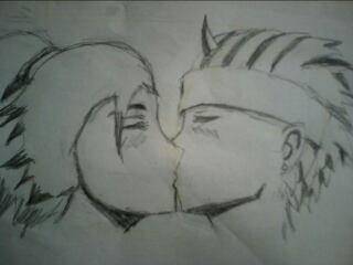 Baiser amoureux!