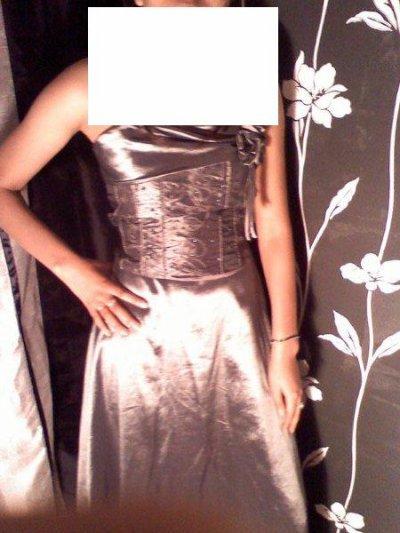 robe de soiré grise