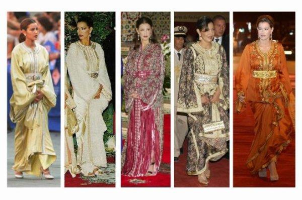 Princesses Marocaines: Caftans de Lalla Meryem, Lalla Asmae et Lalla Hasna