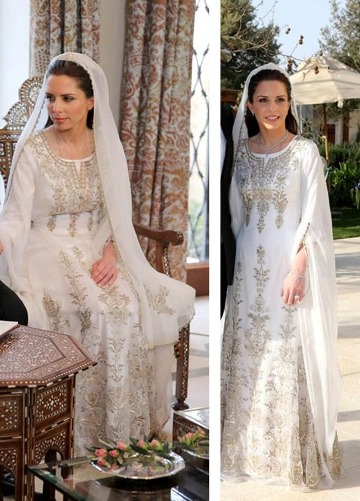 Vetements de noces de princesses Jordaniennes