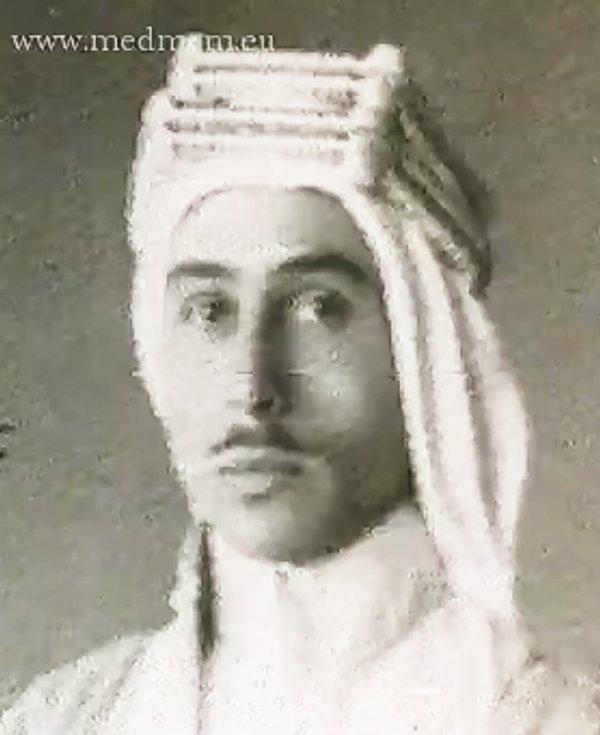 Portrait du roi Talal le jour de son mariage