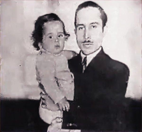 Photo d'archive: le roi Talal et son fils le roi Hussein