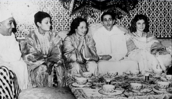 Le roi Mohammed V du Maroc et sa famille