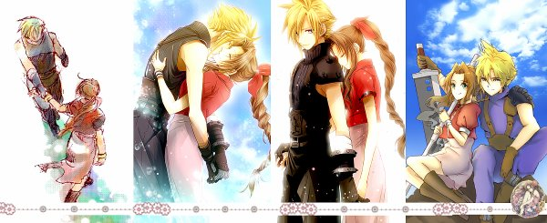 Article Final Fantasy : La sélection de la semaine => fanarts Cloud x Aerith