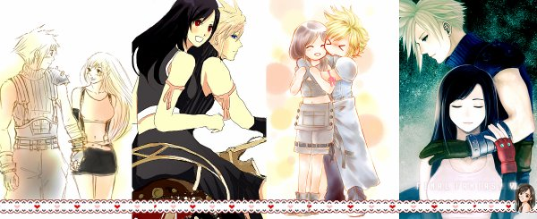 Article Final Fantasy : La sélection de la semaine => fanarts Cloud x Tifa