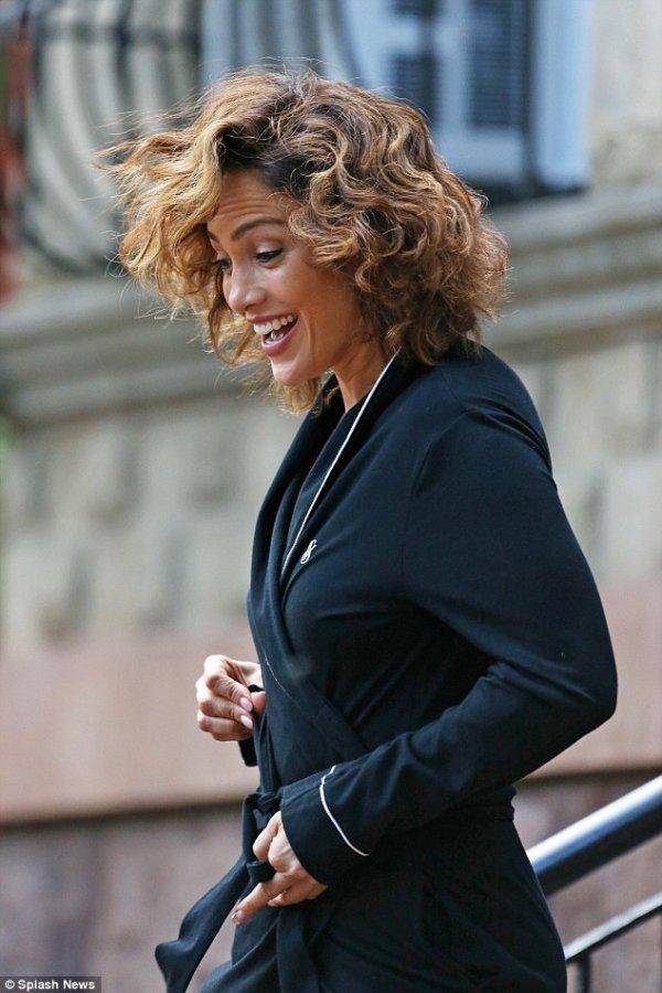 """J.Lo sur le set de """"Shades Of Blue"""" le 17.07.2015"""