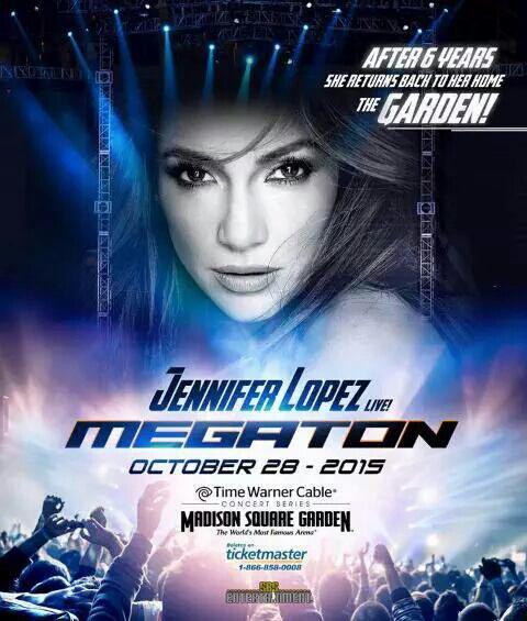"J.Lo performera au ""Madison Square Garden"" le 28.10.2015"