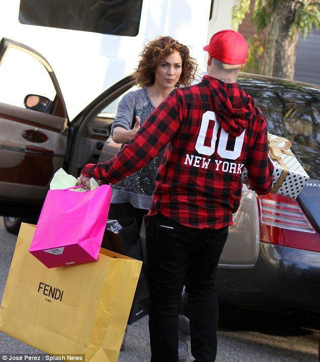 Jen' avec sa famille à New-York le 14.10.2015