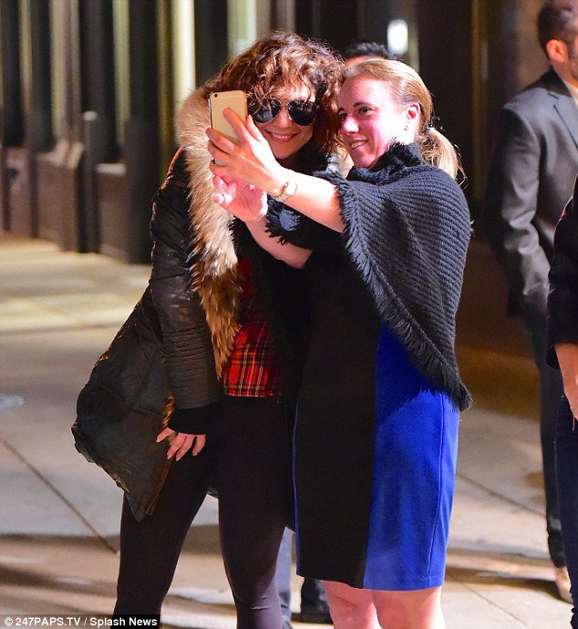 Jen' & Casper au restaurant à SoHo à New York le 04.11.2015