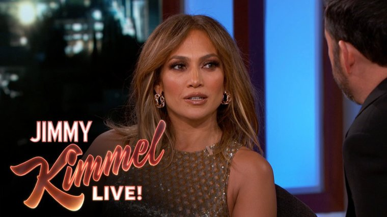 """Jennifer sur le plateau de """"Jimmy Kimmel Live"""" le 04.01.2016"""