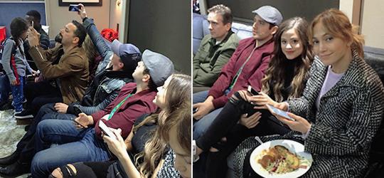 """Jennifer a regardé le premier épisode de """"Shades Of Blue"""" avec sa famille et ses amis le 07.01.2016"""