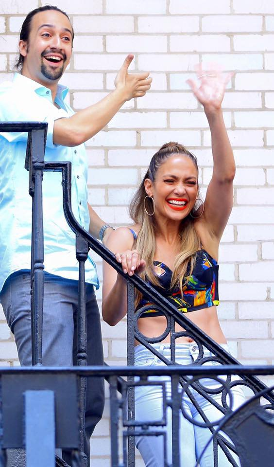 """Jennifer Lopez sur le tournage du clip """"Love Make The World Go Round"""" le 08.07.2016"""