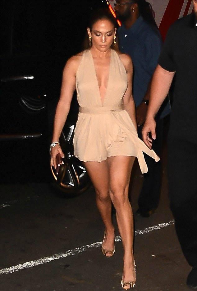 Jennifer arrivant au concert de Marc Anthony à New York le 27.08.2016