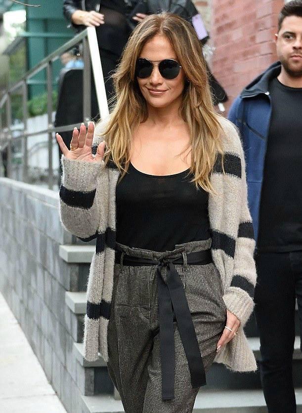Jennifer quittant un studio d'enregistrement à New York le 03.10.2016