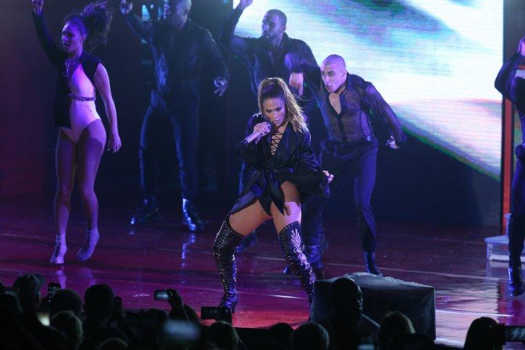 Jennifer le 29.10.2016 performant pour soutenir la campagne de Hilary Clinton