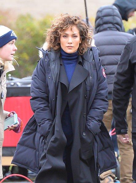 """Jennifer sur le set de """"Shades Of Blue"""" le 21.11.2016"""