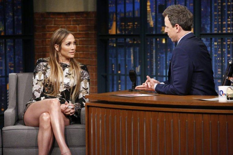 Jennifer sur le plateau de Seth Meyers le 02.03.2017