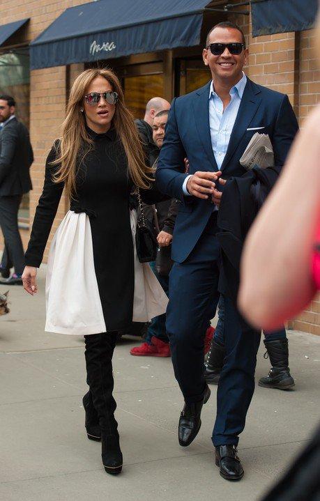 Jennifer avec Alex Rodriguez le 31.03.2017