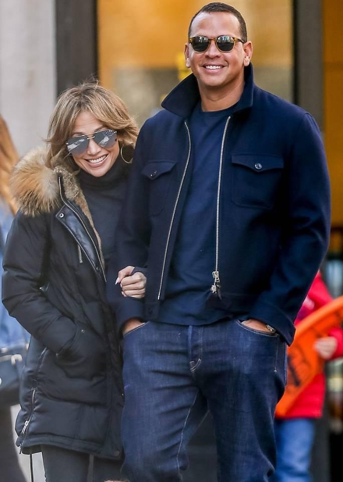 Jennifer avec Alex Rodriguez le 02.04.2017