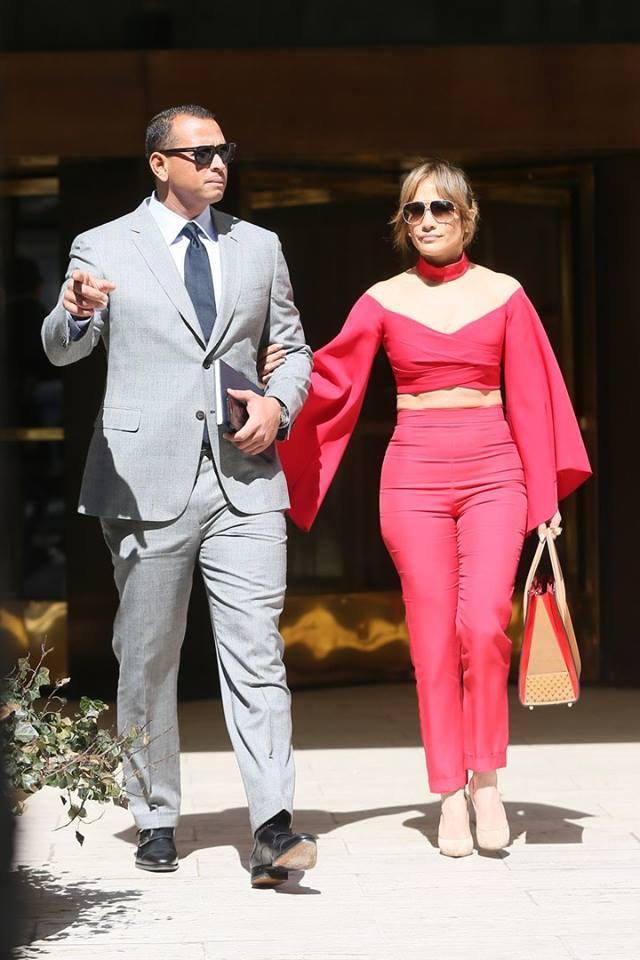 Jennifer avec Alex Rodriguez le 03.04.2017