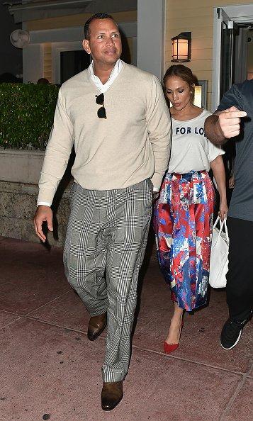 Jennifer & Alex Rodriguez à Miami le 18.04.2017