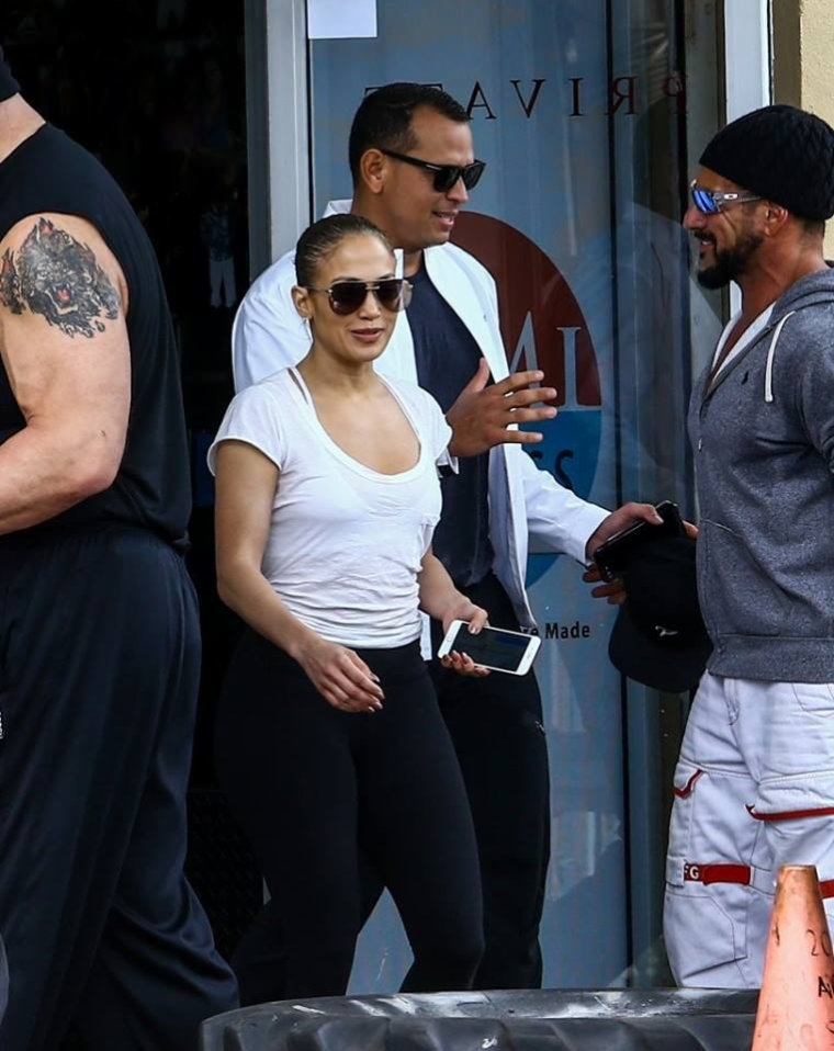 Jennifer & Alex Rodriguez à la gym le 22.04.2017