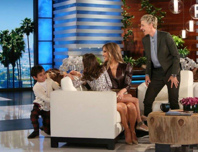 Jennifer sur le plateau de Ellen DeGeneres le 24.04.2017