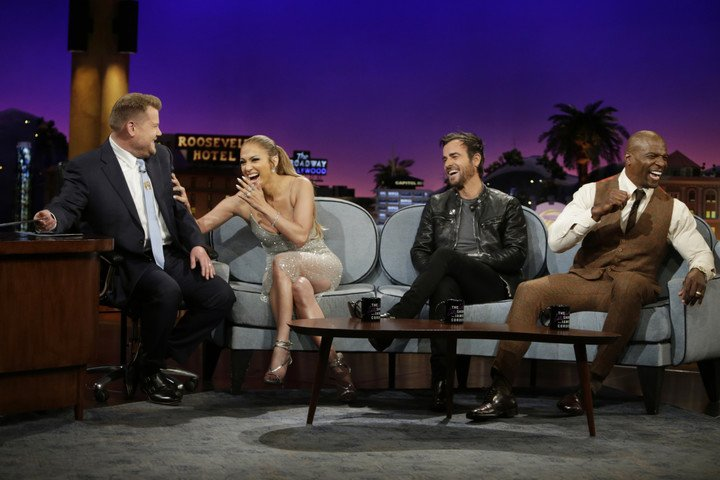 "Jennifer sur le plateau de ""The Late Late Show With James Corden"" le 04.05.2017"