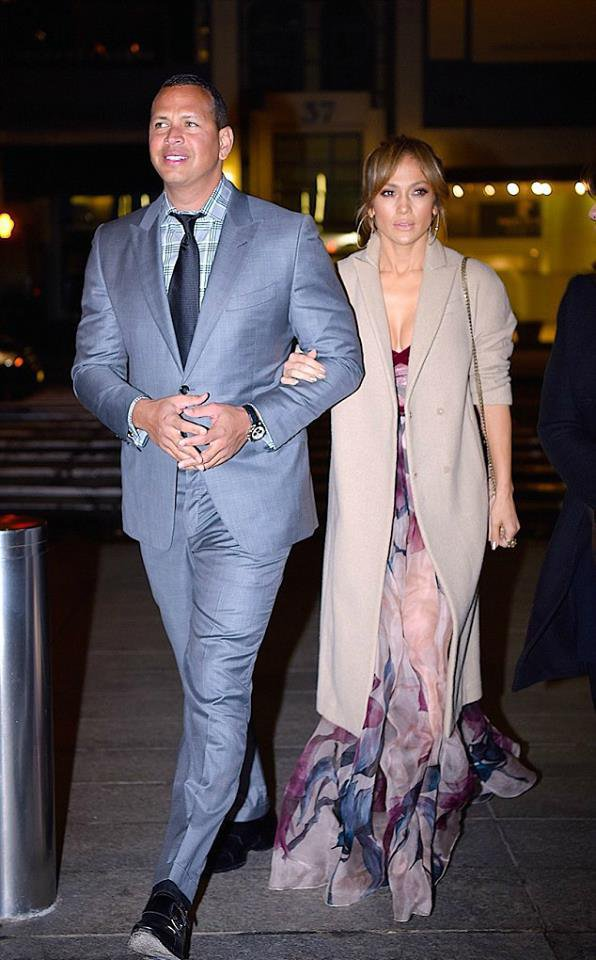Jennifer Lopez and Alex Rodriguez dînant le 14.05.2017
