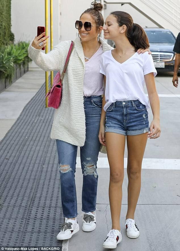 Jennifer & Alex Rodriguez et ses filles à Los Angeles le 12.09.2017