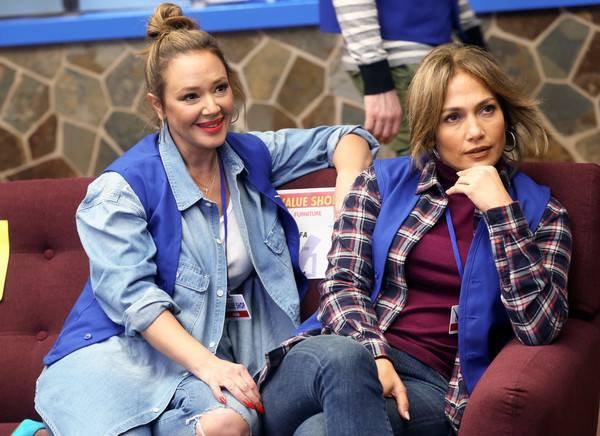 """Jennifer et Leah Remini sur le set de """"Second Act"""" le 24.10.2017"""