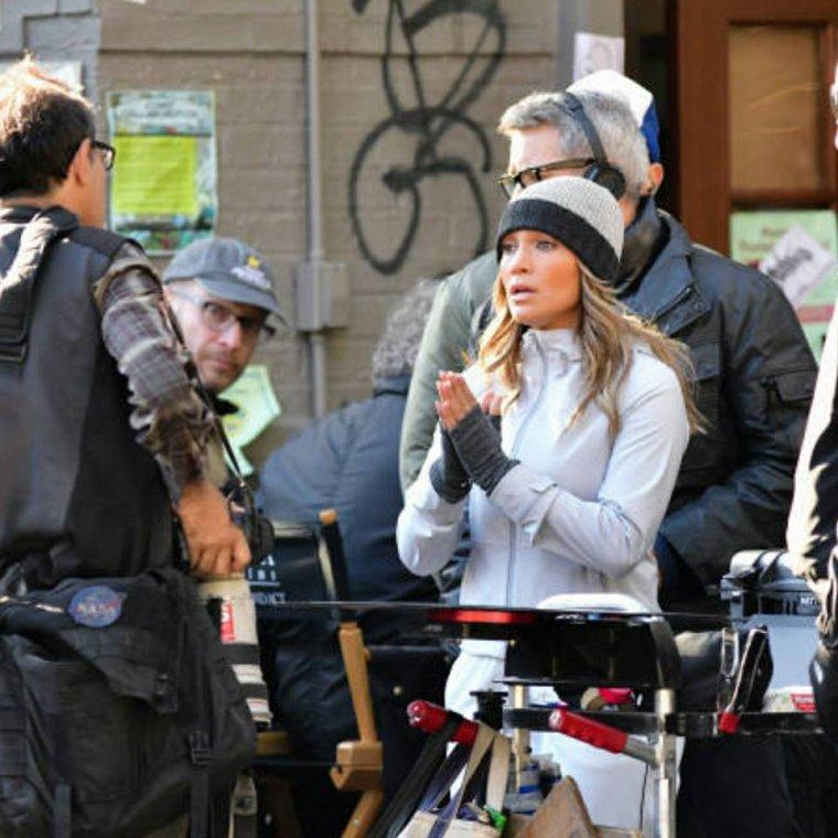 """Jennifer sur le set de """"Second Act"""" le 27.10.2017"""