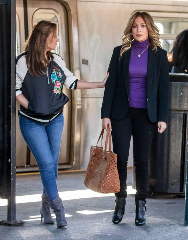 """Jennifer & Leah sur le set de """"Second Act"""" le 27.10.2017"""
