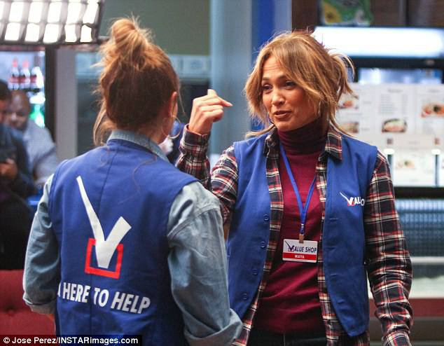 "Jennifer et Leah Remini sur le set de ""Second Act"" le 30.10.2017"