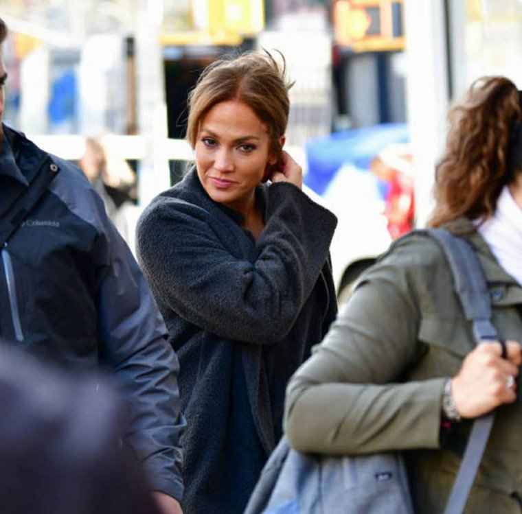 "Jennifer sur le set de ""Second Act"" le 30.10.2017"