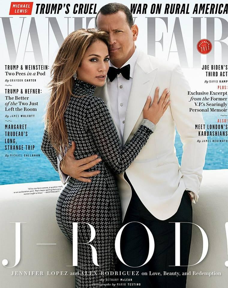 """Jennifer & Alex pour """"Vanity Fair"""" décembre 2017"""
