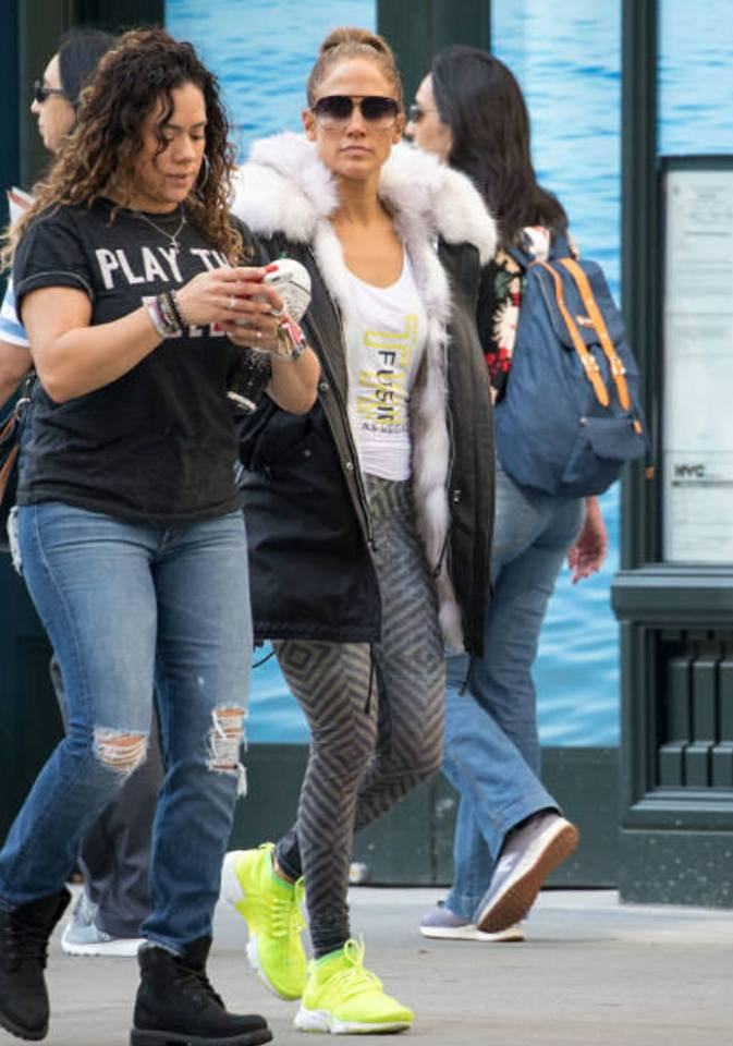 Jennifer & sa cousine Tiana le 03.11.2017 à New York