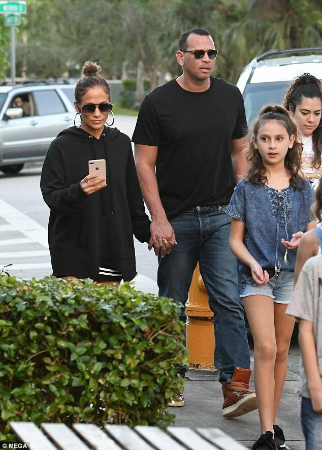 Jennifer & Alex avec leur famille en Floride le 05.11.2017