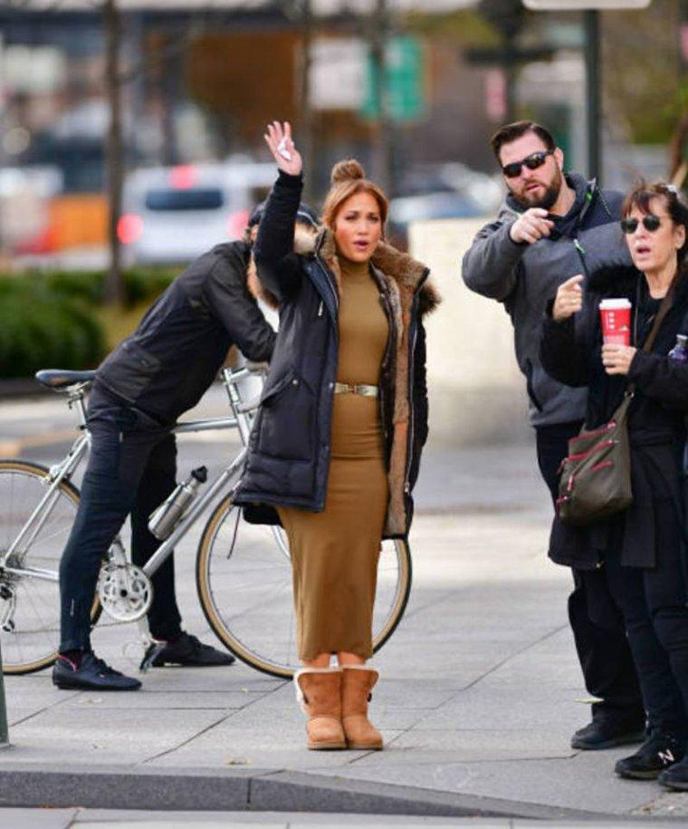 """Jennifer sur le set de """"Second Act"""" le 28.11.2017"""