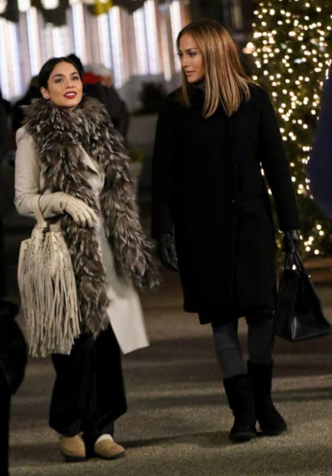 """Jennifer & Vanessa sur le set de """"Second Act"""" le 08.12.2017"""