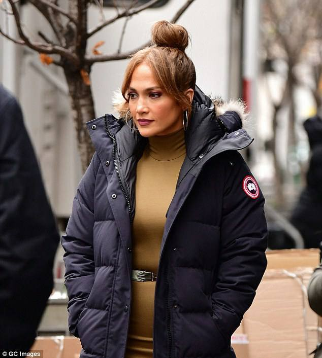 "Jennifer sur le set de ""Second Act"" le 15.12.2017"