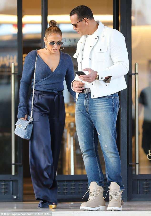 Jennifer & Alex Rodrigez le 03.04.2018 à Beverly Hills
