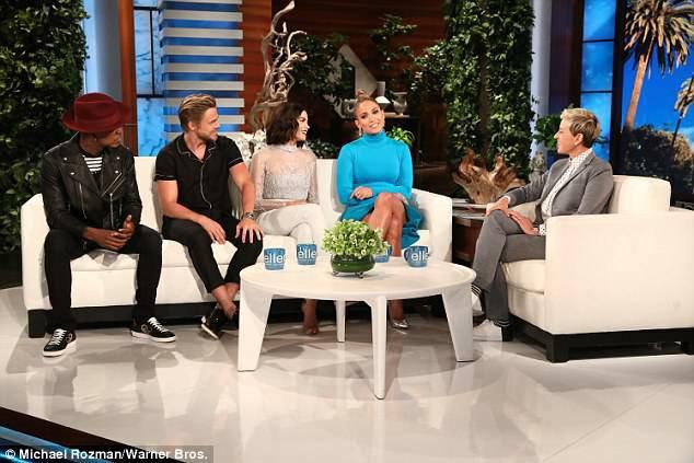 """Sur le plateau de """"Ellen DeGeneres"""" le 02.05.2018 avec les juges de """"World Of Dance"""""""