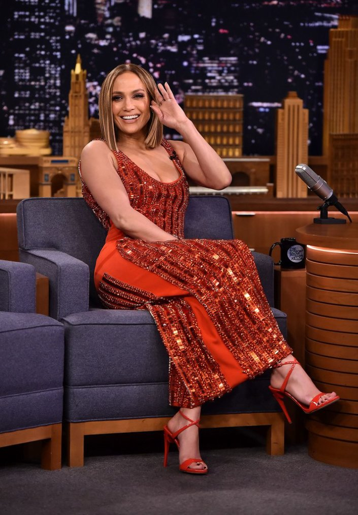 """Jennifer sur le plateau du """"Tonight Show with Jimmy Fallon"""" le 09.05.2018"""