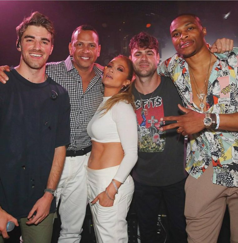 Jennifer au show de Chainsmokers le 01.06.2018